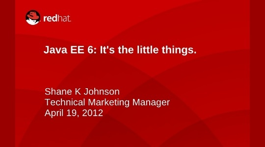 Java EE 6 – It's the small things. (Slider Image)