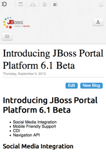 Both JBoss Portal Platform and the MDBlog Portlet renders differently on smaller screens.